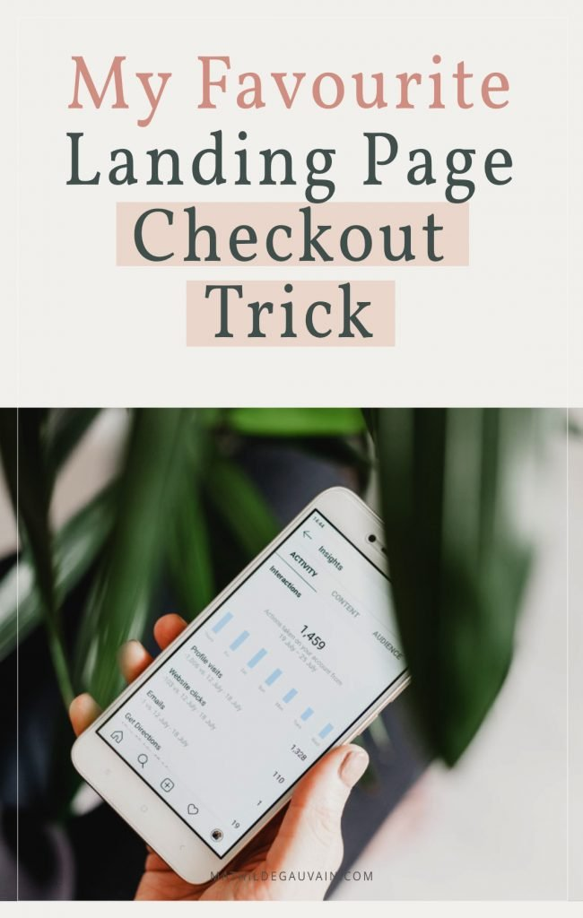 My Favourite Landing Page Checkout Trick For WordPress + Woocommerce - Mathilde
