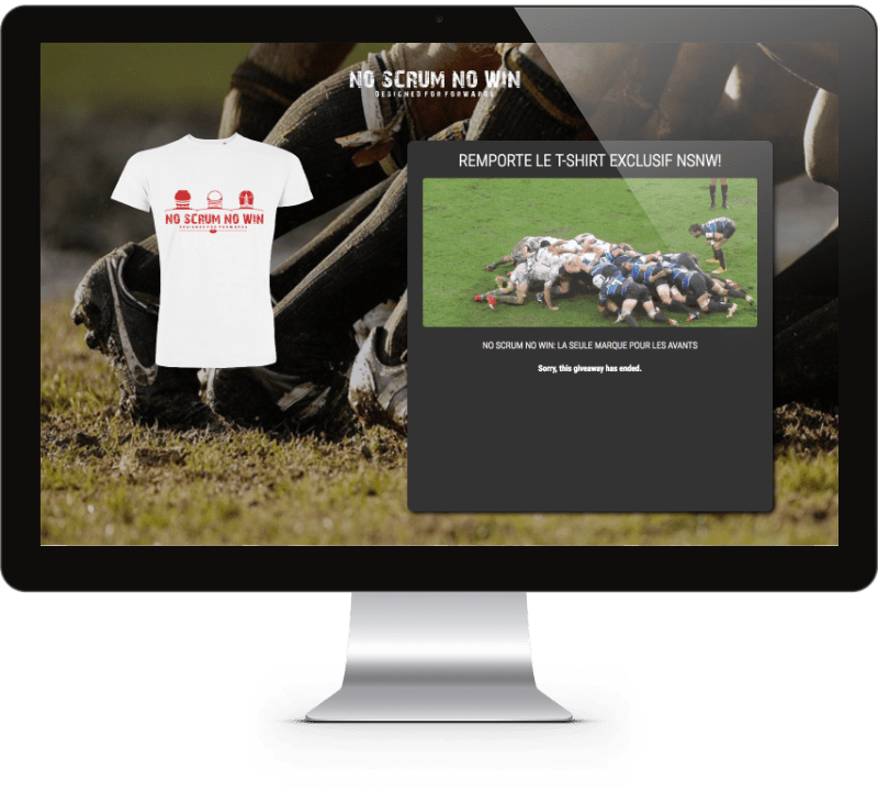 No Scrum No Win Landing Page Design - Mathilde Gauvain Consulting