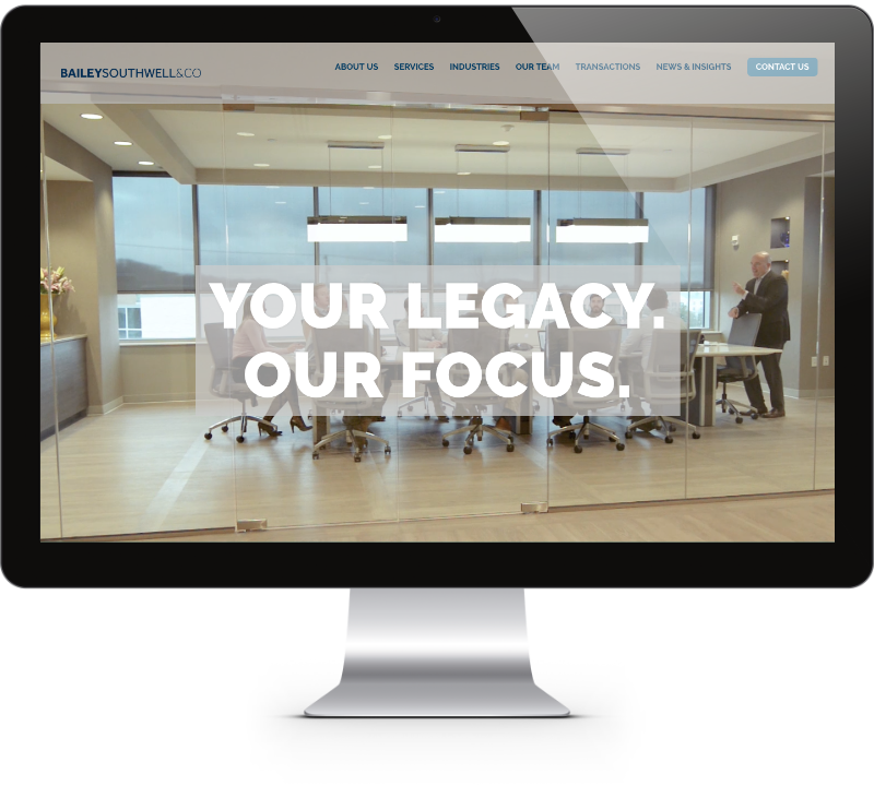 Bailey Southwell & Co. Website Design - Mathilde Gauvain Consulting