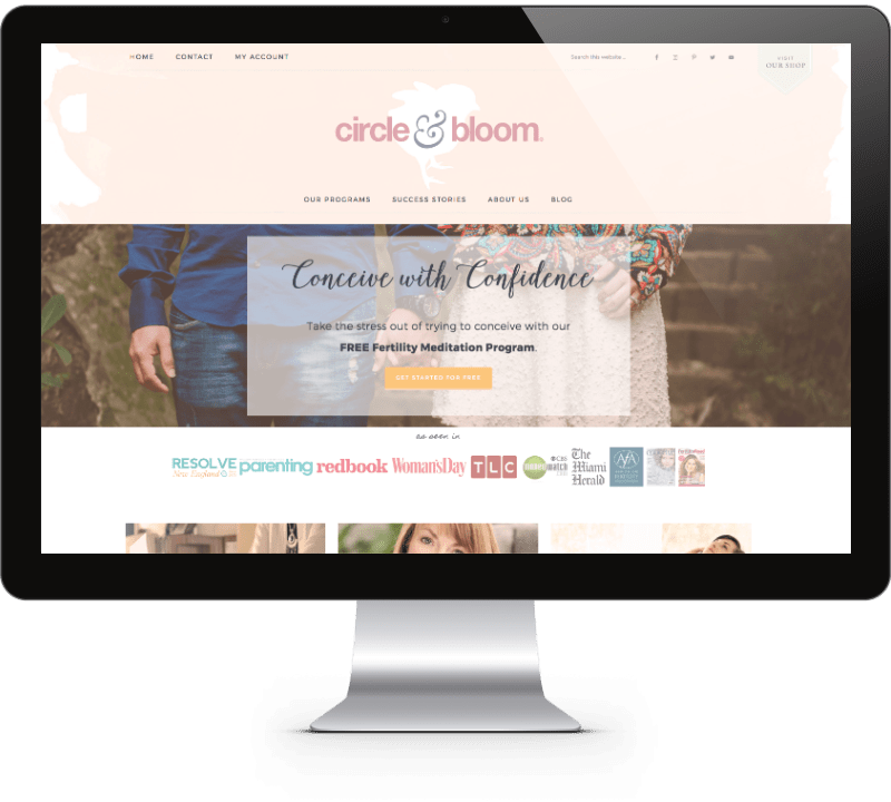 Circle & Bloom Website Design - Mathilde Gauvain Consulting