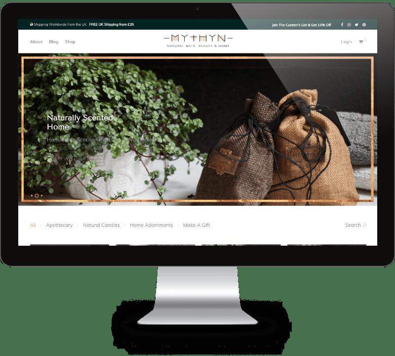 MYTHYN Website Design - Mathilde Gauvain Consulting