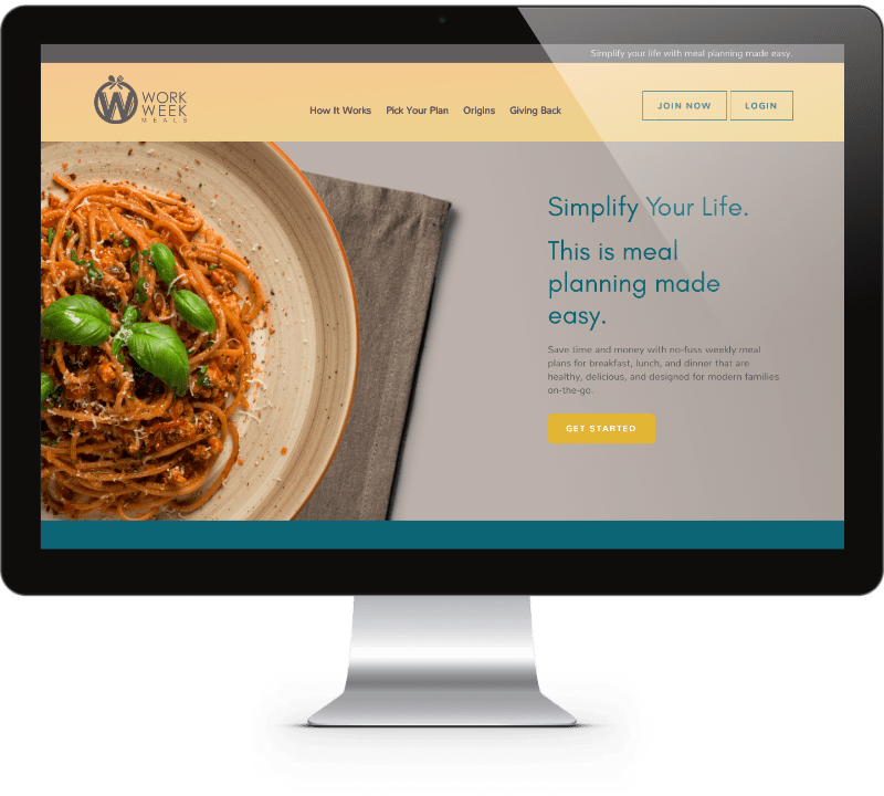 Work Week Meals Website Design - Mathilde Gauvain Consulting
