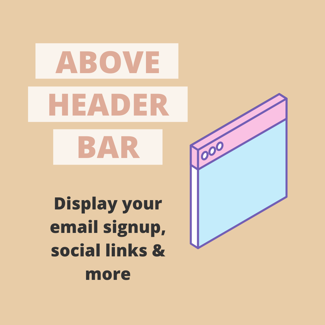 Above Header Bar Plugin - Easily Add An Email Signup, Social Icons & More